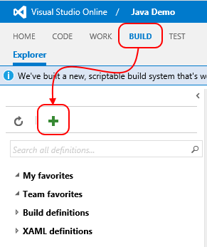 Of Templates Pre Defined By The VSO Team For Visual Studio Xamarin And Xcode Builds Since Were Not Doing Any That Well Start With A Clean Slate